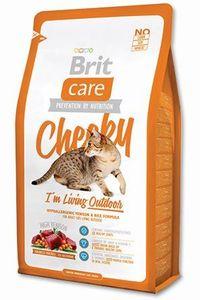 Сухой корм для кошек Brit Care Cat Outdoor с олениной и рисом 400 г.