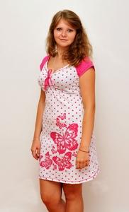 Ночная сорочка Бабочки, в горошек Tovray С-Е8