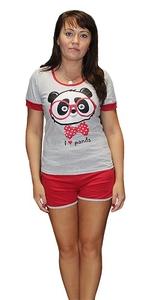 Домашний костюм футболка с шортами Панда Tovray СК76 (SF)