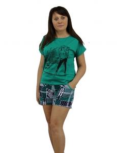 Домашний костюм Модница футболка с шортами Tovray СК34 (SF)