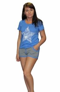 Домашний костюм Звезда футболка с шортами Tovray СК75 (SF)