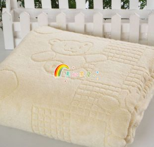 Банное полотенце для детей из бамб. волокна 120*120 вес 790 г.