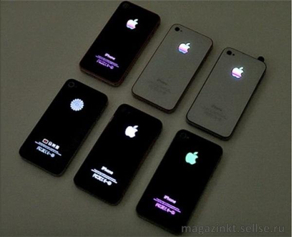 Как сделать светящееся яблоко в айфон