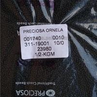 """Бисер чешский, """"PRECIOSA,"""" №10 (23980) непрозрачный чёрный, 50г/zip-уп."""