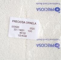 """Бисер чешский, """"PRECIOSA"""", №10 (46102) белый, непрозрачный, глянцевый, 50г/zip-уп."""
