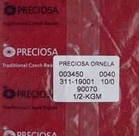 """Бисер чешский, """"PRECIOSA,"""" №10 (арт.90070) прозрачный, красный, 50г/zip-уп."""