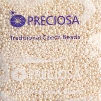 """Бисер чешский, """"PRECIOSA"""", №10 (арт.46113) кремовый, непрозрачный, жемчужный, оригинальная упаковка 50г."""