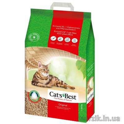 Подстилка Cat's Best Original (Oko Plus - Кетс Бест Эко Плюс) 20л/8,6кг