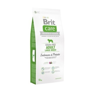 Сухой беззерновой корм для собак Brit Care Grain-Free Adult Large Breed Salmon & Potato 12 кг. (для собак весом от 25 кг.)