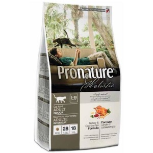 Сухой корм для кошек Pronature Holistic Adult Turkey&Cranberries Индейка и клюква 340 г.