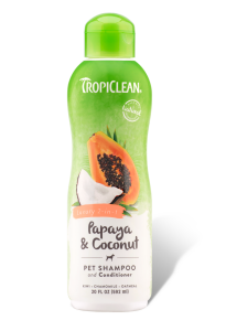 Шампунь+кондиционер TropiClean Papaya & Coconut 2в1
