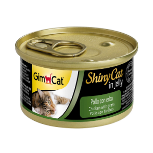 Консервы для котов Gimcat Shiny Cat  курица, трава 70 г