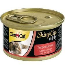 Консервы для котов Gimcat Shiny Cat тунец, лосось 70 г