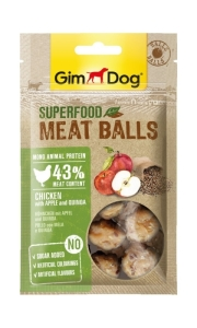 Лакомства для собак всех пород GimDog Superfood курица с яблоком и капустой 70 г