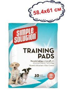 Влагопоглощающие гигиенические пеленки для собак SIMPLE SOLUTION (Original training pads) 10 шт/58,4 см*61 см.
