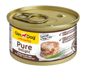 Консерва для собак GimDog Little Darling Pure Delight chicken with beef  (говядина) 85 г