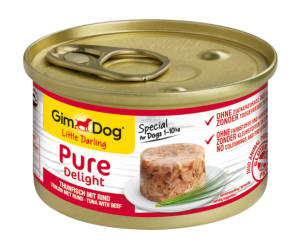 Консерва для собак  GimDog Little Darling Pure Delight tuna with beef  (тунец и говядина) 85 г