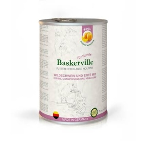 Консервы для собак Baskerville Holistic (Баскервиль) с мясом кабана, утки и тыквой 400 г