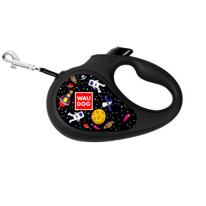 "Рулетка COLLAR WAUDOG Printed, с рисунком ""NASA"", для собак весом до 12 кг, 3м,"