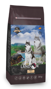 Сухой корм для собак всех пород, Landor ADULT DOG FISH (Эдалт Дог Фиш), с рыбой и рисом, 3 кг