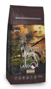 Сухой корм для собак крупных пород, Landor ADULT LARGE BREED (Эдалт Лардж Брид), с ягненком и рисом, 3 кг
