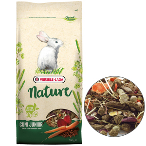 Versele-Laga Nature Cuni Junior (ВЕРСЕЛЕ-ЛАГА НАТЮР КРОЛЬЧАТА) суперпремиум беззерновой корм для крольчат, 0,7 кг