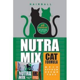 Сухой корм для кошек Nutra Mix Hairball Formula (Нутра Микс Хаербол) 9,07 кг.