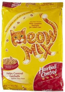 Meow Mix (Мяу Микс) Hairball выведение шерсти 6,44 кг