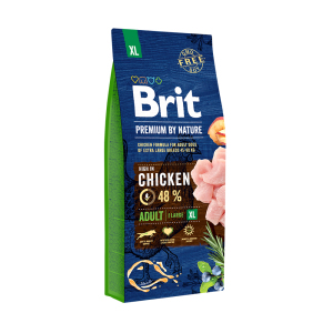 Сухой корм для собак гигантских пород Brit Premium Adult XL с курицей 15 кг.