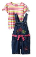 костюмчик Young Hearts Girls 2-6X 2 Piece Knit Pullover And Woven Shortall With Flowers