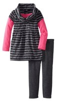 костюм Self Esteem Girls 2-6X Skater Sleeve Cowl Tunic With Mylar Dot Leg Set