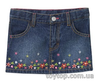Джинсовая юбка Healthtex Baby Girls' Border Embroidered Denim Skirt