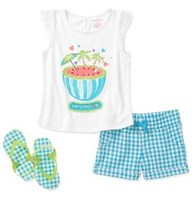 Комплект Healthtex Baby Girls' 2 Piece Graphic Flutter Tank and Skort Set