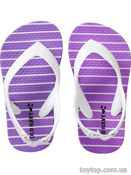 Printed Flip-Flops for Baby - Purple Stripe
