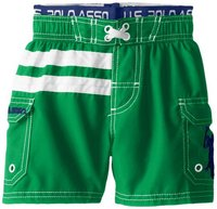Шорты U.S. Polo Association Little Boys' Solid Board Shorts with Floral Panels
