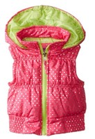 Pink Platinum Girls' Puffer Vest In Foil Dot