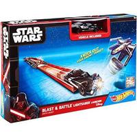 Star Wars Hot Wheels Disney Blast & Battle Lightsaber Car Luncher - Darth Vader