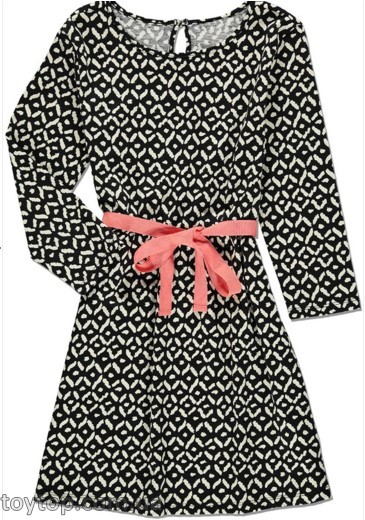 Платье Ikat Print Ribbon Belt Dress (Kids)