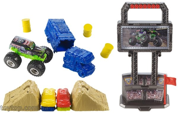 Hot Wheels Monster Jam Crash and Carry Arena Play Set