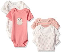 Боди комплект Rene Rofe Baby Girls' 5 Piece Shortsleeve Lap Shoulder Bodysuit Set