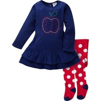 набор платье и колготки Gerber Baby Girls' Micro Fleece Dress with Tights