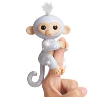 Интерактивная обезьянка - Fingerlings Glitter Monkey - Sugar (White Glitter)