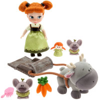 Анна Фрозен и ее друзья - Disney Animators' Collection Anna Mini Doll Play Set