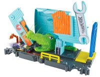 Трек Аллигатор в гараже - Hot Wheels Gator Garage Attack Vehicle Playset