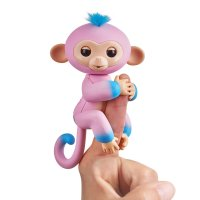 Интерактивная двухцветная обезьянка - Fingerlings 2Tone Monkey - Candi (Pink with Blue accents) - Interactive Baby Pet