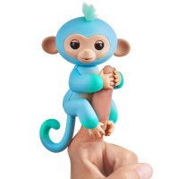 Интерактивная двухцветная обезьянка -Fingerlings 2Tone Monkey - Charlie (Blue with Green accents) - Interactive Baby Pet