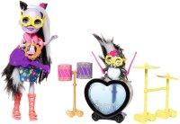 Энчантималс: Скунсик Сейдж и Каперс рок музыканты- Enchantimals Rockin' Drumset Playset with Sage Skunk Doll & Caper Figure