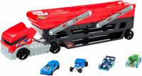 Автотрейлер 50 авто +4 авто бонус - Hot Wheels Mega Hauler and 4 Cars Set, Mega Hauler Truck-4 Cars