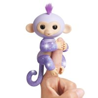 Интерактивная обезьянка Кики - Fingerlings Glitter Monkey - Kiki (Purple Glitter) - Interactive Baby Pet - By WowWee