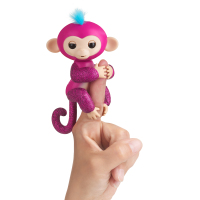 Интерактивная обезьянка Разз - WowWee Fingerlings Glitter Monkey (Walmart Exclusive) - Razz (Raspberry Glitter)